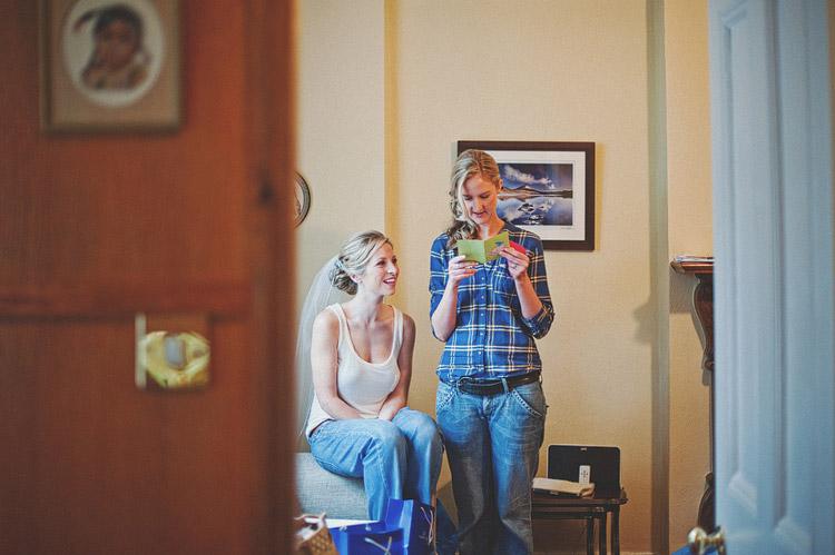 Bride's house wedding photographs Northern Ireland