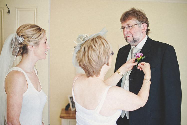Bride with parents Northern Ireland wedding