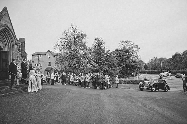 Vintage car at Northern Ireland wedding