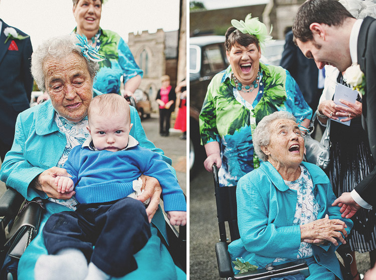 Photographs of guests at Northern Ireland wedding