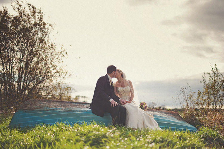 Wedding photographs by the lake Northern Ireland