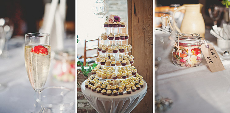 Cupcakes at Northern Ireland wedding