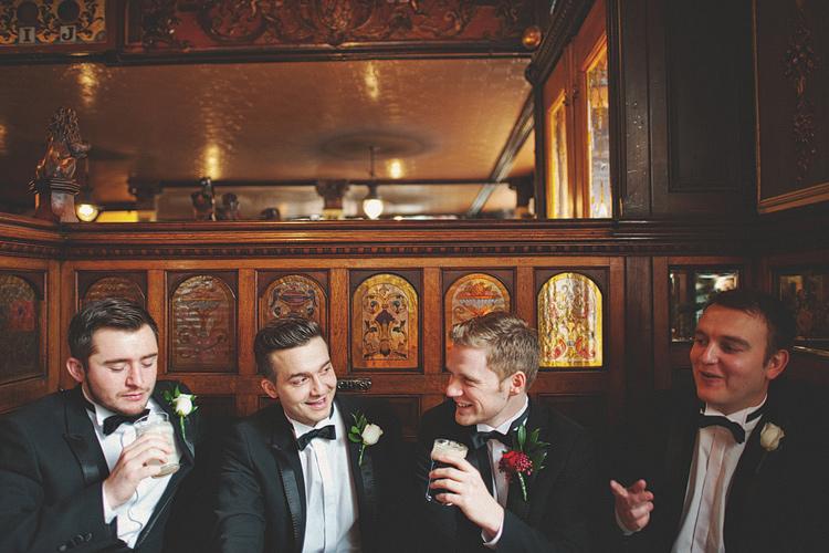 Black tie wedding photographs Northern Ireland