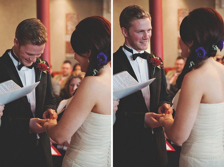 Wedding ceremony in Ten Square Hotel Belfast