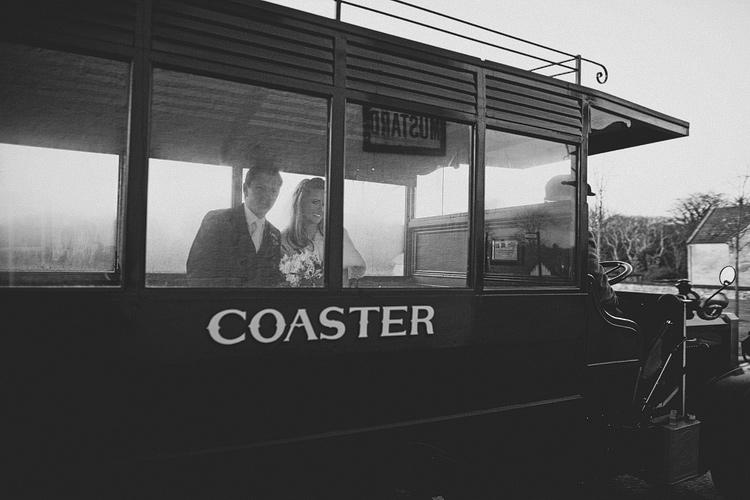 Ulster Folk and Transport Museum wedding Coaster ride