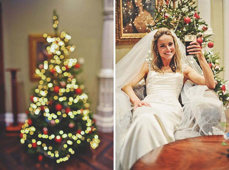 Christmas wedding photographs Northern Ireland