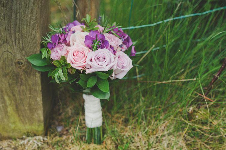 Herbs and roses wedding bouquet Ireland
