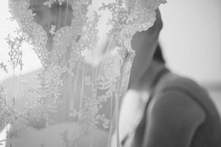 Amelia's vintage lace wedding wedding dress at her Crom Castle, Northern Ireland wedding