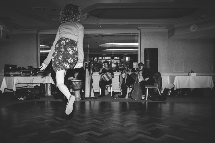 Irish dancing at Crawfordsburn Inn wedding