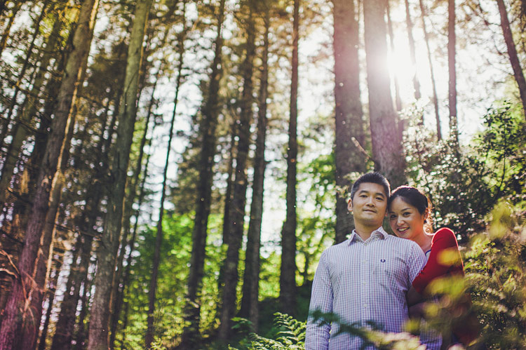 chinese engagement shoot ireland forest