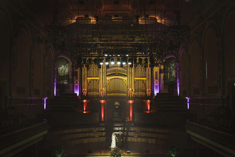 The first wedding at the Ulster Hall, Belfast
