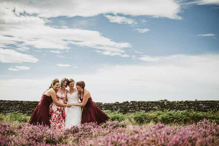 Heather in bloom at Yorkshire Moors Wedding