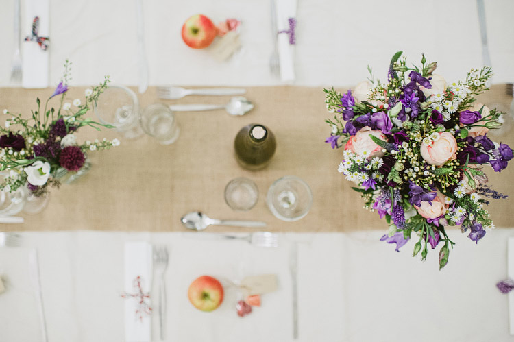 Apples on tables for wedding