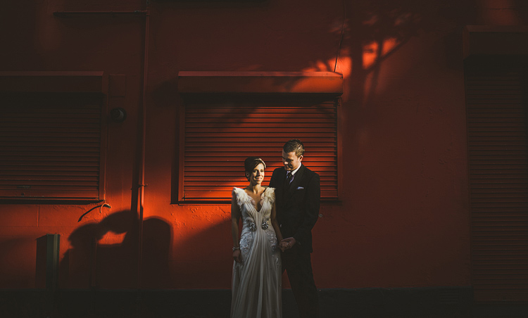 belfast city wedding photograph with jenny packham dress