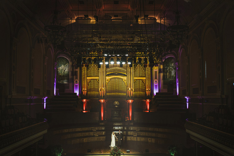 Alternative Ulster Rocknroll Wedding in Belfast's Ulster Hall and Empire