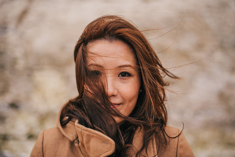 wind in hair hong kong portrait