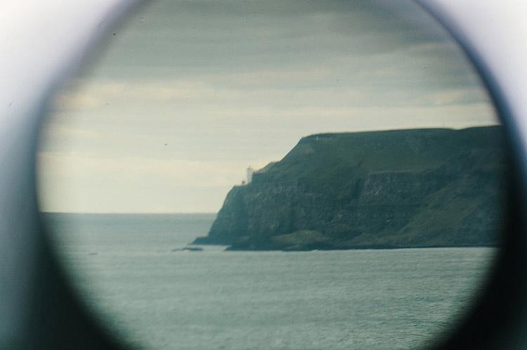 seaside telescope at engagement shoot