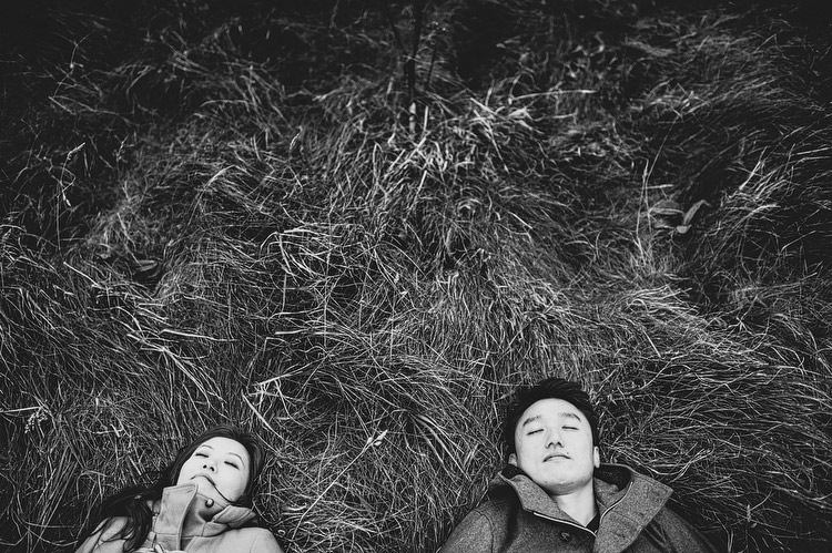 engagement portraits in grass