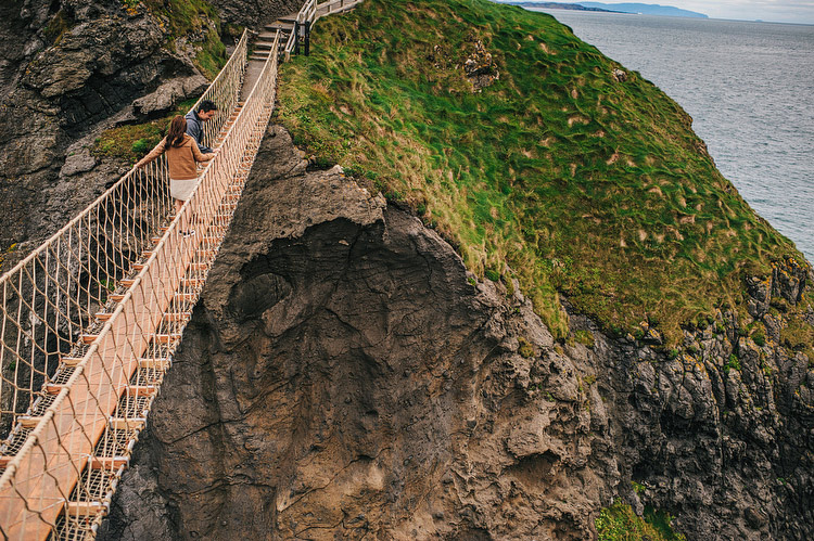 Carrick-a-Rede engagement photographers