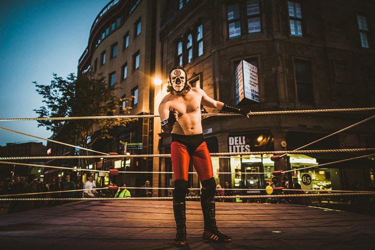 culture night belfast wrestler