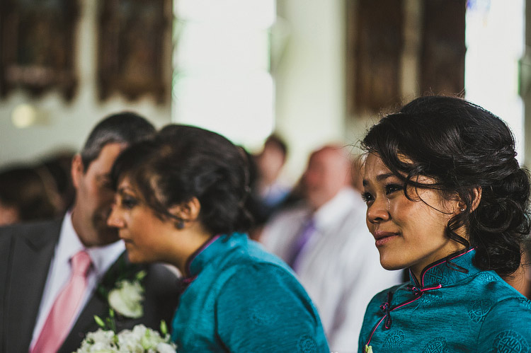 Chinese bridesmaid tear