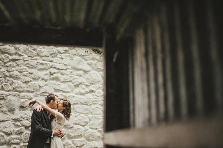 turf shed wedding portrait