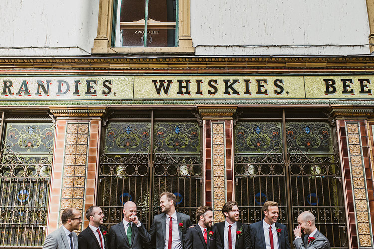 whiskey bar wedding groomsmen