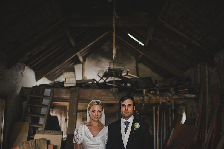 wood shed wedding portraits