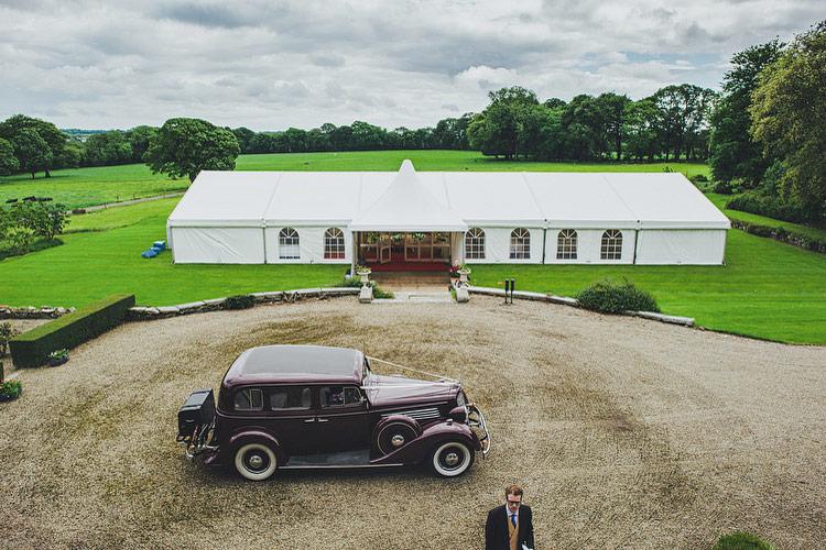 Irish garden wedding marquee