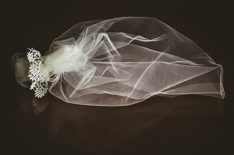 dark wedding veil