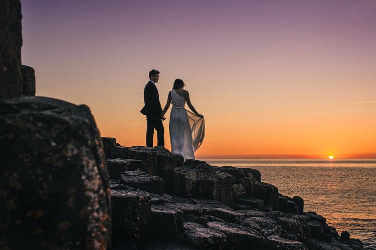giants causeway sunset wedding