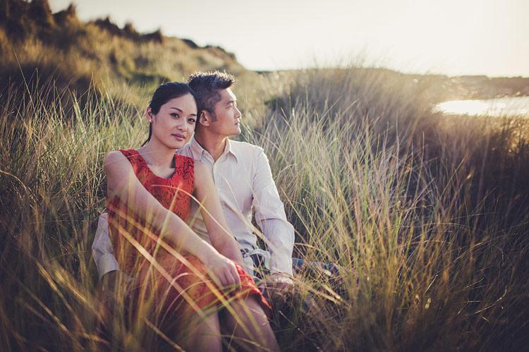Asian engagement photographs