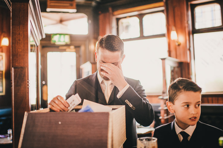 wedding in Belfast pub - the garrick bar