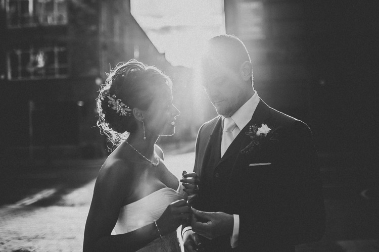 black and white wedding portrait documentary