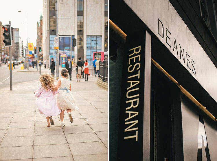 wedding Deanes restaurant Belfast