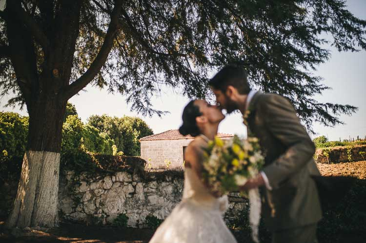 Destination wedding first look