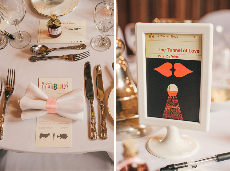bow tie napkin place settings wedding