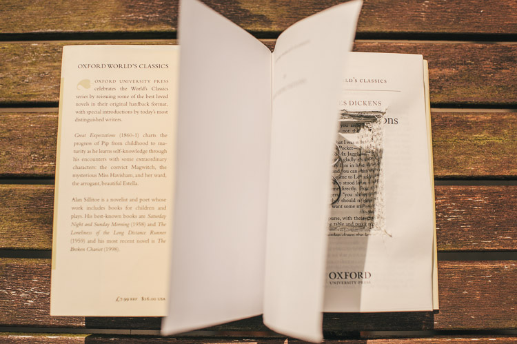 wedding rings inside hollowed book - Great Expectations