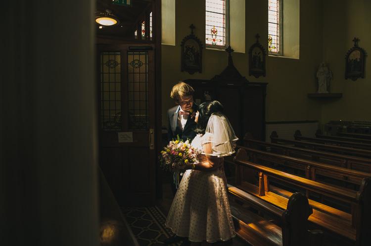 Alternative 1960s wedding