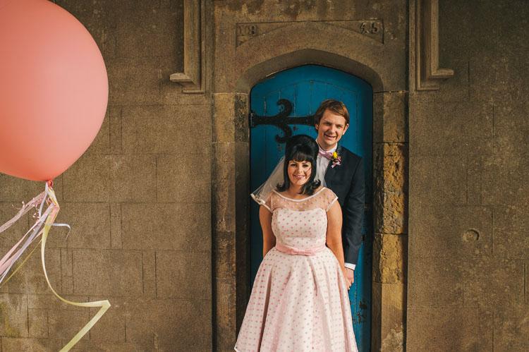 giant pink helium balloons wedding