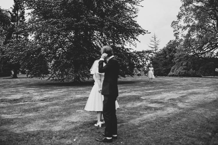 retro style wedding documentary photography