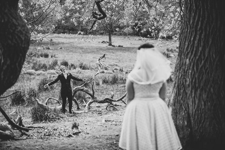 A 1960s Americana polka dot wedding