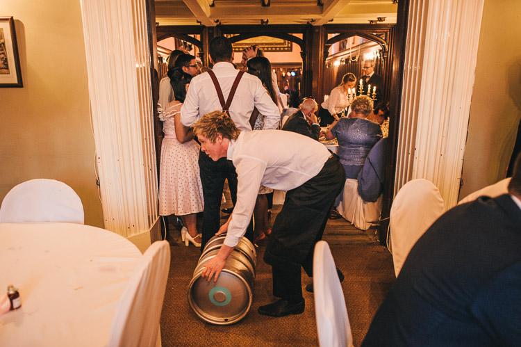 beer keg wedding