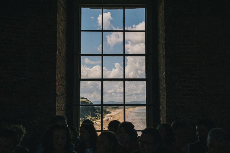 view from Mussenden Temple wedding