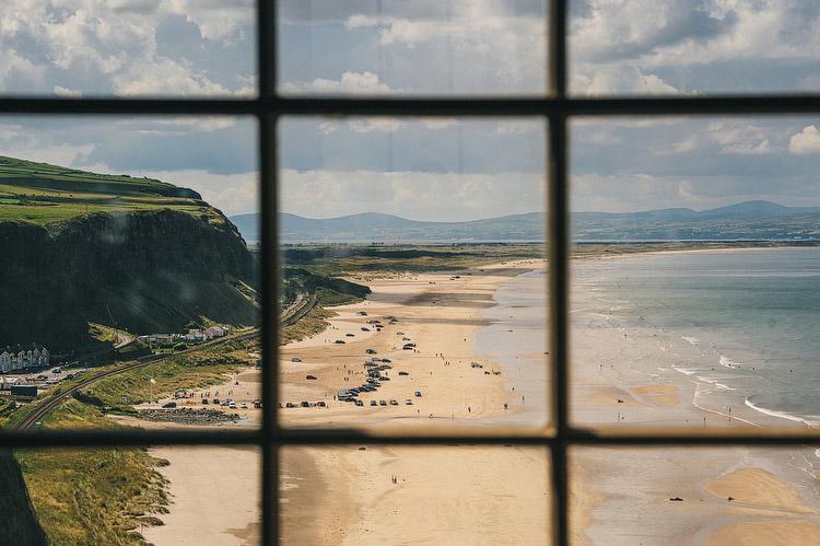 mussenden window downhill beach view