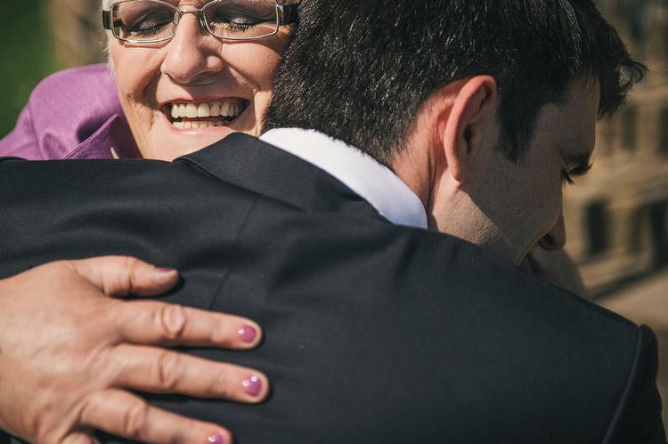 grooms mum hug