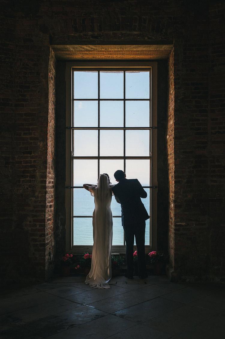 Wedding portraits Mussenden Temple North Window