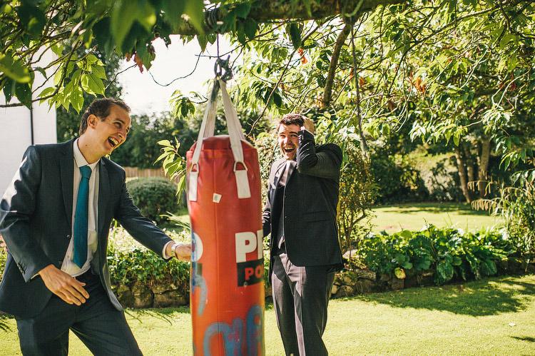 boxing punch bag wedding