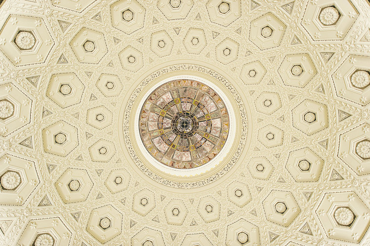 Ballyfin Demesne Rotunda ceiling