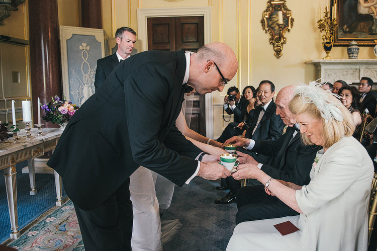 Chinese Tea ceremony at Ballyfin Demesne Wedding